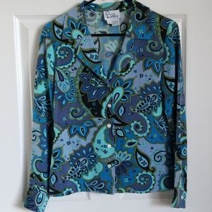 Lilly Pulitzer silk Printed blouse tops sz 2